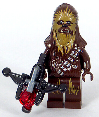 LEGO Star Wars - Chewbacca Minifigure with Stud-shooter Bowcaster, Wookiee (NEW)