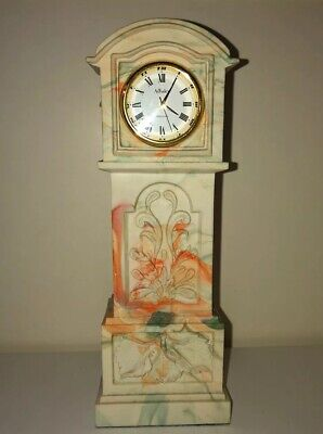 Aynsley Portland Miniature Grandfather Clock Working Order With Instructions