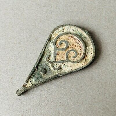 A Beautiful Roman Bronze Enamelled Seal Box Lid FREE UK POSTAGE C.1st-4th Cent.