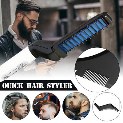 Electric Quick Beard Straightener Multifunctional Hair Comb Curling Curler Cap A