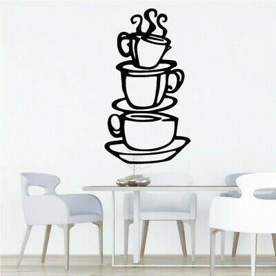 Sale Removable DIY chen Decor Coffee House Cup Decals Vinyl Wall Sticker XIU