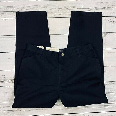 Riders Casuals Slash Pocket Pants Size 16 Womens Black Chinos Eased Fit Straight