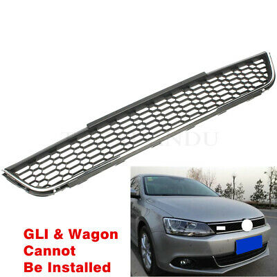 Fit For VW Jetta 2011-2014 MK6 Front Bumper Lower Grille Honeycomb Chrome Trim