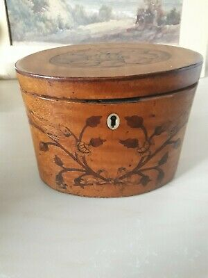 Georgian Tea caddy Satinwood C1790