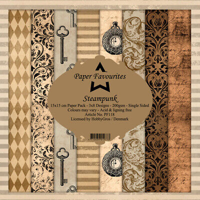 "Steampunk Dixi Craft Paper Pad 6"" x 6"""