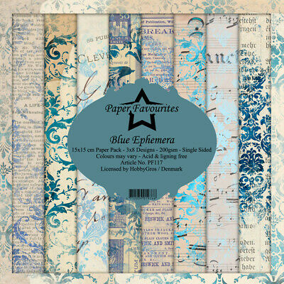 "Blue Ephemera Dixi Craft Paper Pad 6"" x 6"""