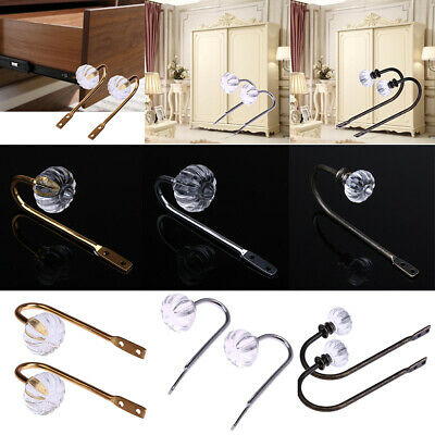 Retro Crystal Glass Curtain Holder Wall Tie Back Hook Hanger Drawer Handle
