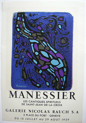 Alfred Manessier (1911-1993) Cantique spirituel Plakat Orig. Lithographie 1959