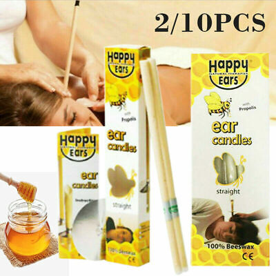 2/10x Ear Cleaner Wax Removal Natural Beeswax Candles Treatment Care Healthy Set