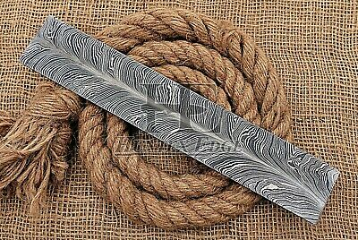 HUNTEX Forged Damascus Steel 30 cm New Feather Pattern Blank Billet Knife Making