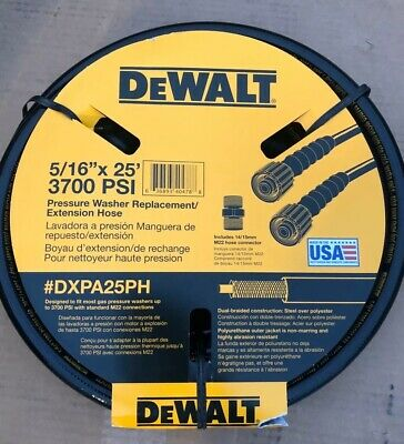 DEWALT 5/16 in. 25 ft. 3700 psi Replacement Extension Hose Cold Water Gas