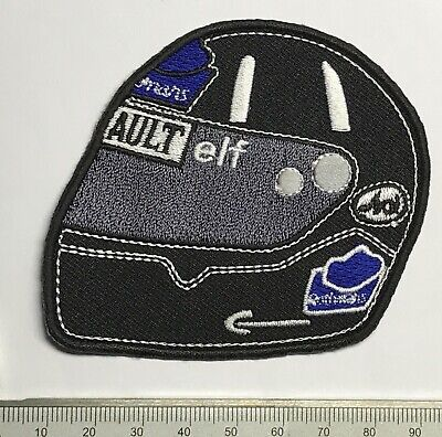 .Aufnäher Patch -> DAMON HILL Rennhelm race helmet