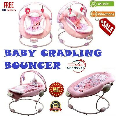 Baby Bouncer Rocker Cradle Seat Infant Swing Soothing Starts Toddler Child Born