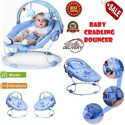 Comfort Baby Cradling Bouncer Reclining Soothing Music Vibration Soft Toy Chair