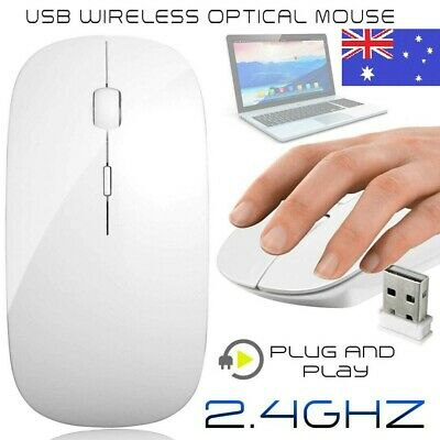 2.4GHz Ultra-slim Wireless Mouse Optical 1600 DPI Sensor Mouse for PC , computer