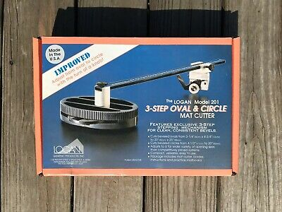 Logan 3-Step Oval And Circle Mat Cutter Model 201 Bevel Cuts NOS New Old Stock