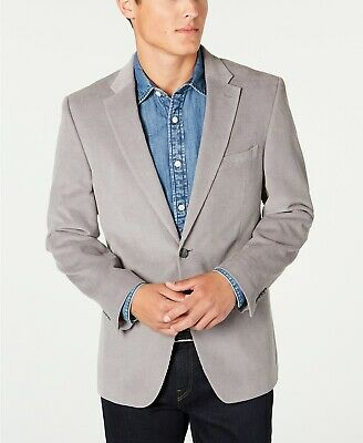 $295 Tommy Hilfiger Men's Modern-Fit Corduroy Sport Coat 38L Grey