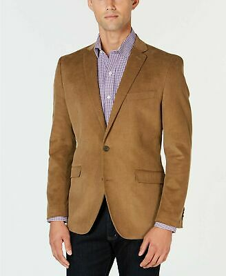 $295 Kenneth Cole Men's Slim-Fit Corduroy Sport Coat 38R Tan Blazer