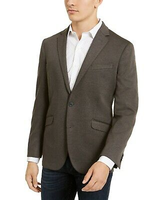 $295 Kenneth Cole Reaction Slim-Fit Stretch Knit Sport Coat 38L Grey