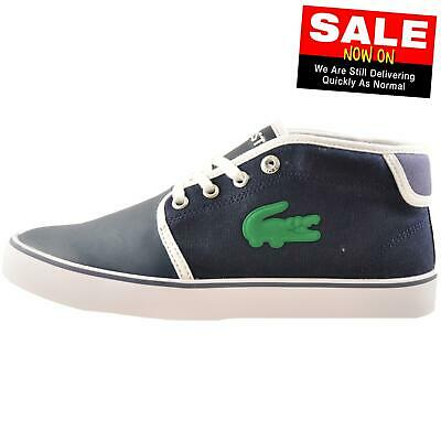 Lacoste Ampthill 316 Junior Classic Casual Designer Mid Top Trainers White