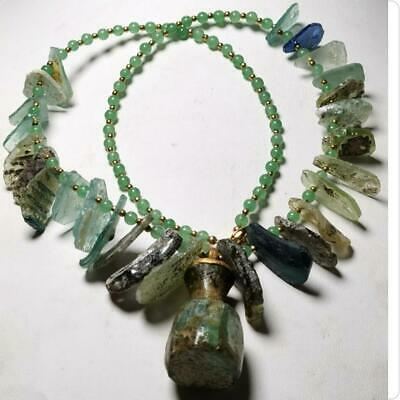 Lovely Necklace with Ancient Roman Glass Beads & Pendant amulet Lovely     # 148