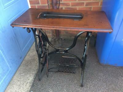 Antique Treadle Sewing Machine Cast Iron Table Base / Frame