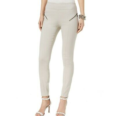 INC NEW Women's Regular Fit Zip-detail Pull On Skinny Pants TEDO