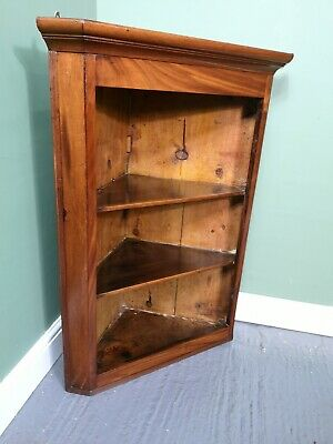 An Antique Victorian Mahogany Wall Hanging Corner Cabinet ~Delivery Available~