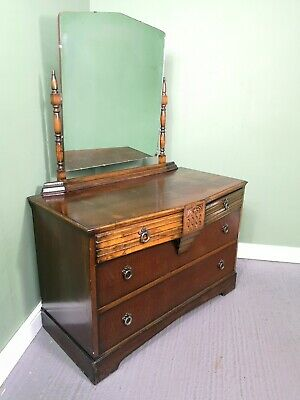 An Antique Oak mid 20th Century Dressing Chest of Drawers ~Delivery Available~