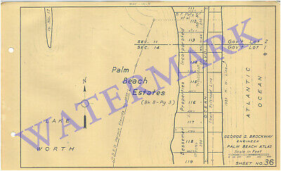 Palm Beach Atlas Sheets #36 to #43 south of Sloan's Curve to Lake Worth Beach (8