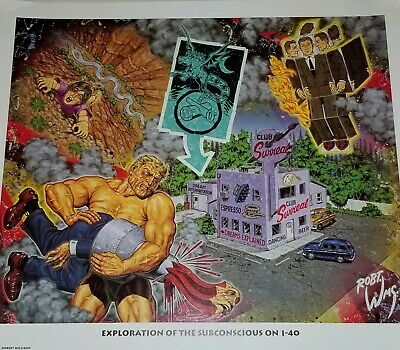 ROBERT WILLIAMS POP SURREALISM ART PRINT 1995 LITHO JUXTAPOZ POP Zap comix crumb