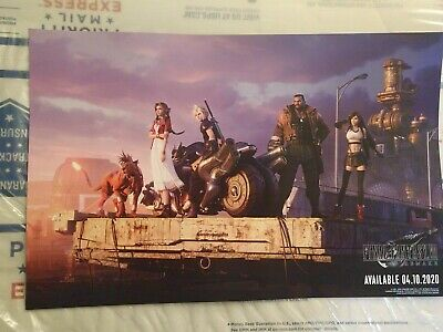 Final Fantasy VII Remake Promo Poster! PAX East 2020 2-sided Cloud, Tifa, Aerith