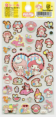 """Sanrio My Melody """"Summer"""" Holographic Stickers (2016)"""
