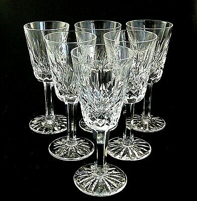"""LISMORE by Waterford Crystal SHERRY GLASSES 5 1/8"""" Tall - Set of 6"""
