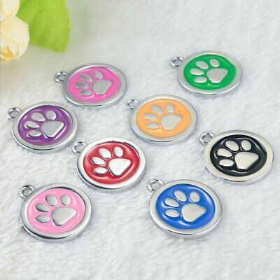 Dog Tags Personalized Engraved Cat Puppy Number ID Name Tags Stainless Steel Paw