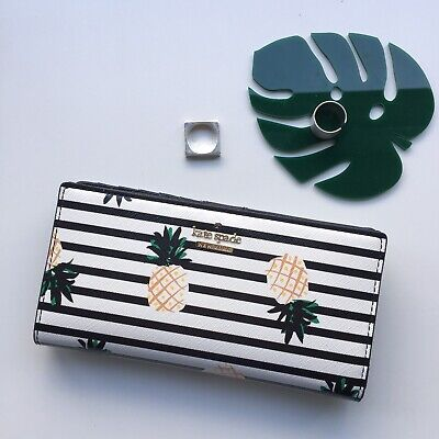 BNWT Kate Spade Cameron Street Pineapples Stacy Wallet🍍