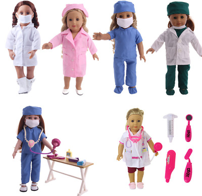 18'' American Girl Brand Doll accessories doctor & nurse Clothes kit