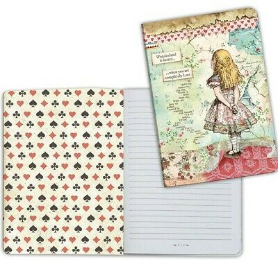 Stamperia A5 Alice Lined Notebook