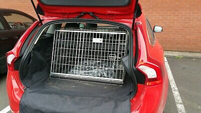 Pet World Volvo V60 Sloping Travel dog puppy crate cage boot guard