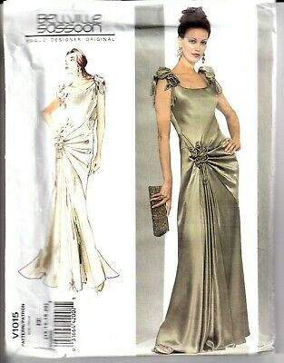 2007 Bellville Sassoon Gown Dress Sewing Pattern 6-12 or 14-20 Vogue 1015 UC OOP