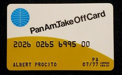 PanAm Take Off Card credit card exp 1977♡Free Shipping♡cc1202