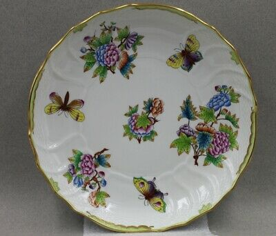 Herend Queen Victoria Round Shallow Round Vegetable Bowl 1082 VBO