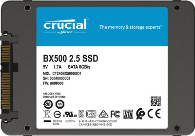 "Hard Disk Ssd 2,5"" Stato Solido 120Gb Crucial Bx500 Ct120Bx500Ssd1"