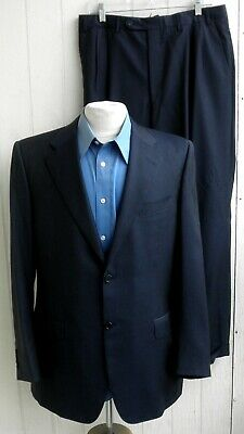 CANALI Mens Navy Wool Italian Deconstructed Two-Button Two-Piece Suit 40L 33x30