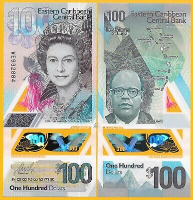 East Caribbean States 100 Dollars p-new 2019 Polymer Banknote UNC