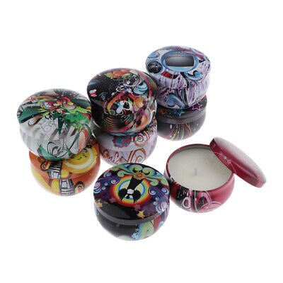 8 Pieces Travel Tins Fragrance Scented Candle Soy Wax Candle Gift Home Decor