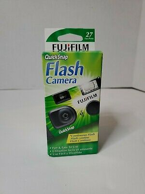 Fujifilm Fuji Quicksnap Flash 400 Disposable Single Use 35mm Camera  Exp 2/22