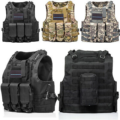 Tactical Vest Military Molle Combat Assault Plate Carrier Gear for SWAT Airsoft