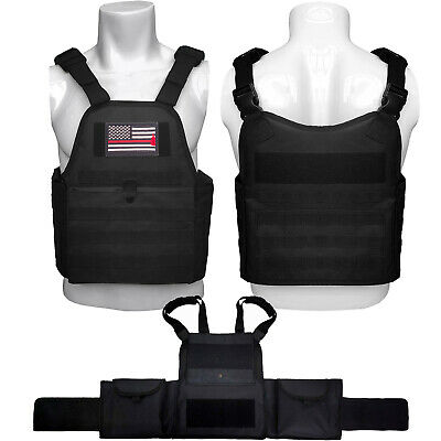 Police Military Tactical Molle Adjustable Plate Carrier Vest with PALS Webbing