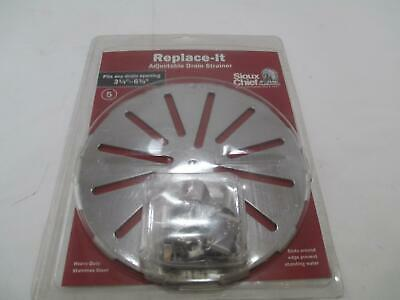 """Sioux Chief Heavy Duty Stainless Steel Floor Drain Strainer 3-1/4"""" - 6-3/4"""""""